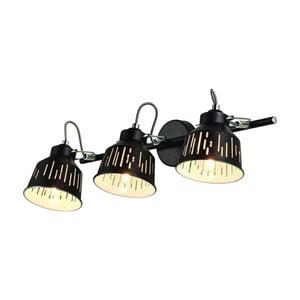 Černá nástěnná lampa 2 žárovky Lamkur Jack