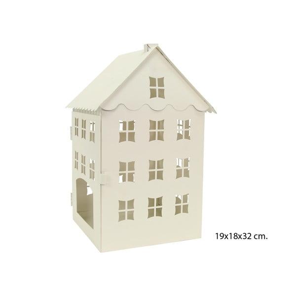 Decorațiune metalică crem Unimasa House, înălțime 32cm