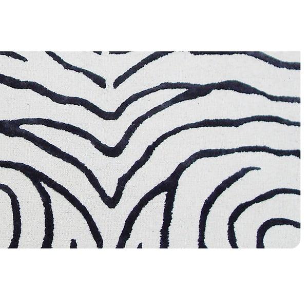Koberec Zebra Black, 122x183 cm