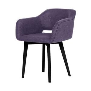 Fialová jídelní židle s černými nohami My Pop Design Oldenburg