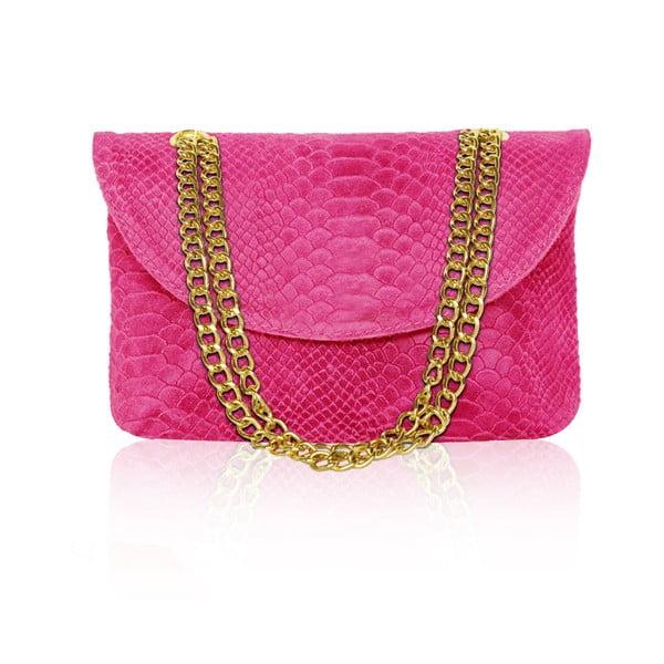 Kožená kabelka Gaia, růžová
