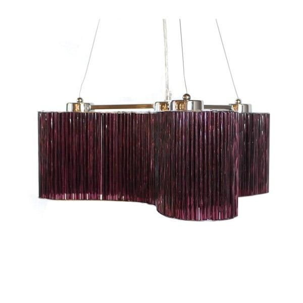 Závěsné svítidlo Ferro Cristal Purple Triangle