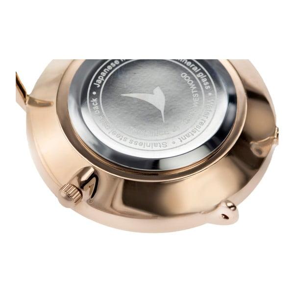 Dámské hodinky s páskem z nerezové oceli v růžovozlaté barvě Emily Westwood Go