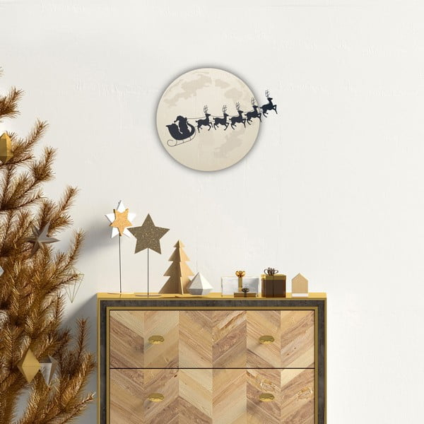 Autocolant Crăciun Ambiance Moonlight Santa