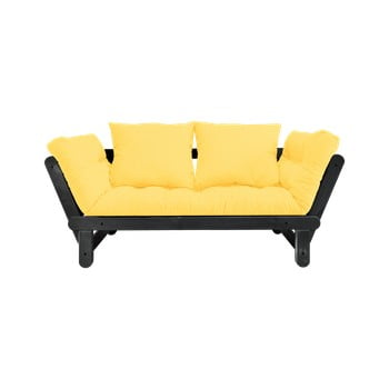 Canapea extensibilă Karup Design Beat Black/Yellow de la Karup Design