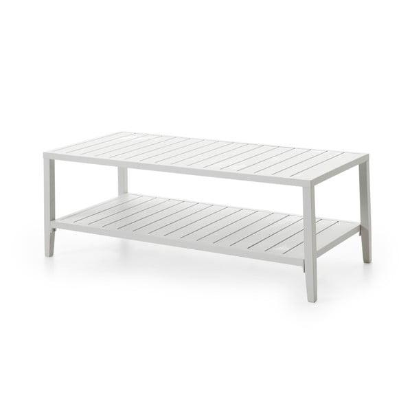 Bílý zahradní stolek Brafab Chelles, 142x65cm