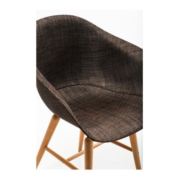Sada 4 hnědých jídelních židlí Kare Design Forum Armrest