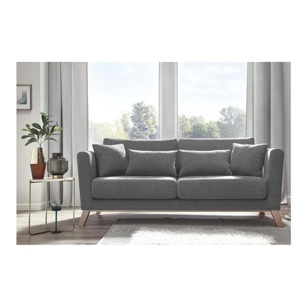 Szara sofa 3-osobowa Bobochic Paris Doblo