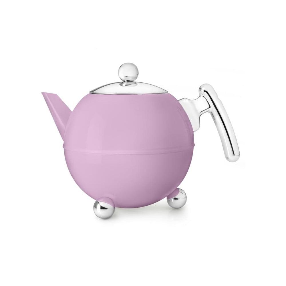Růžová konvice na čaj Bredemeijer Bella Ronde, 1,2l