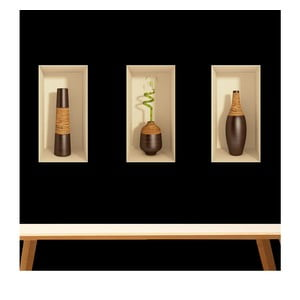 Set 3 autocolante 3D Ambiance Bamboo