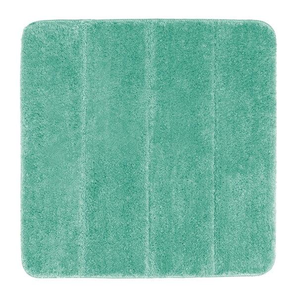 Tyrkysově modrá koupelnová předložka Wenko Steps, 55x65cm