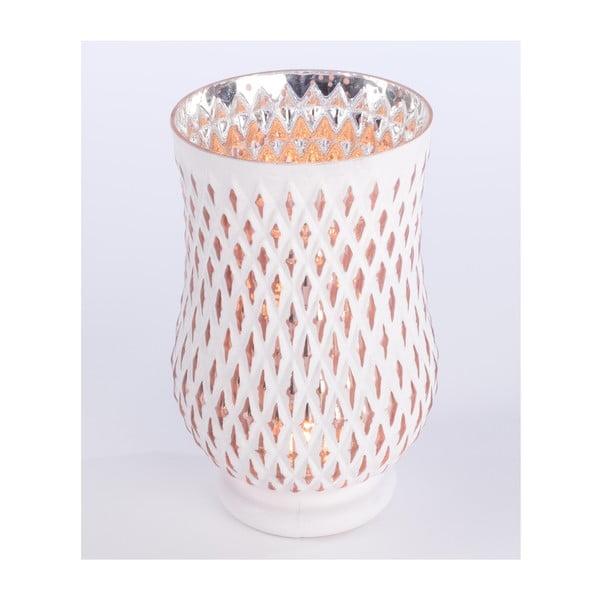Svícen Glass Candle 23 cm, bílý