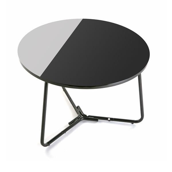 Masă rotundă Versa Dayton, ø 60 cm, alb-negru