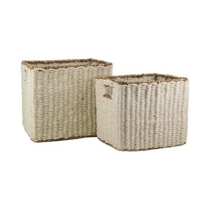 Sada 2 úložných košíků z juty a mořské trávy Moycor Natura