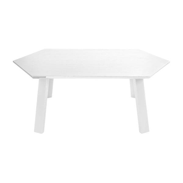 Konferenční stolek Hexagon Pearl White, 105x37x61 cm