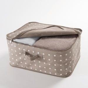 Cutie mică pentru depozitare îmbrăcăminte Compactor Dots, bej