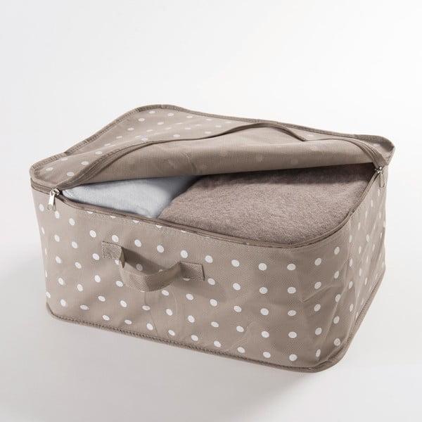 Malý béžový box na uloženie oblečenia Compactor Dots