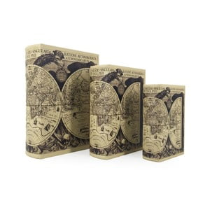 Sada 3 boxů ve taru knihy Moycor Astronomicarum