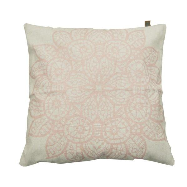 Polštář Overseas Lace White/Blush, 45x45 cm