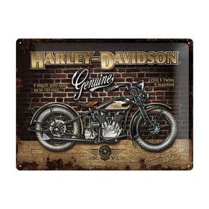 Plechová cedule Harley Davidson Genuine, 30x40 cm