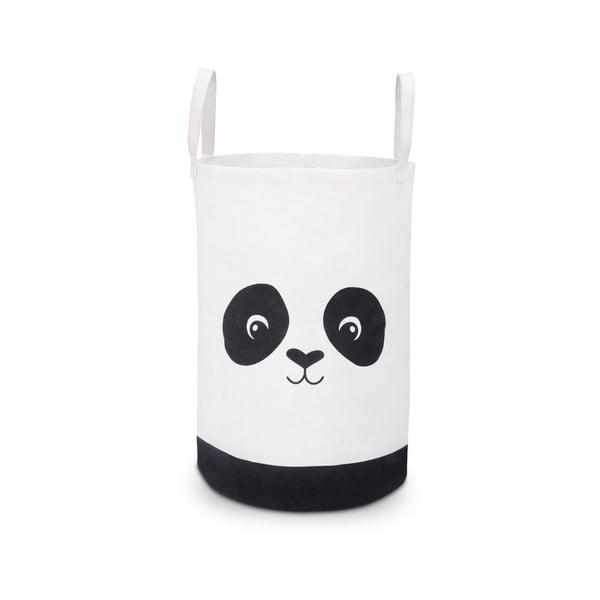 Panda fekete-fehér tárolókosár, ø 34cm - KICOTI