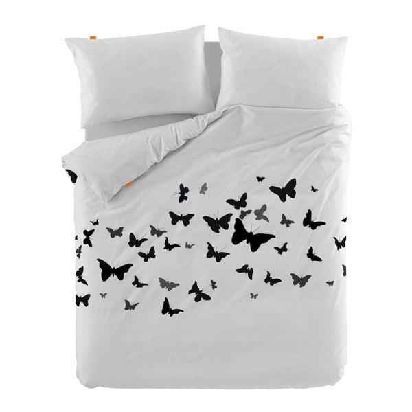 Bavlněný povlak na peřinu Blanc Butterflies, 200x200cm