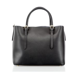 Černá kožená kabelka Glorious Black Mary