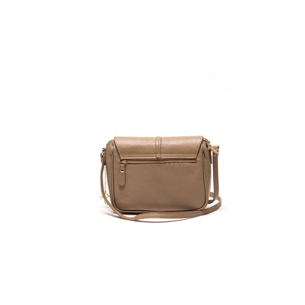Kožená kabelka Ariela, šedohnědá