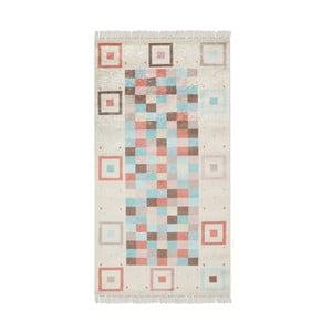 Sametový koberec Deri Dijital TurquoisePradna, 80x300cm