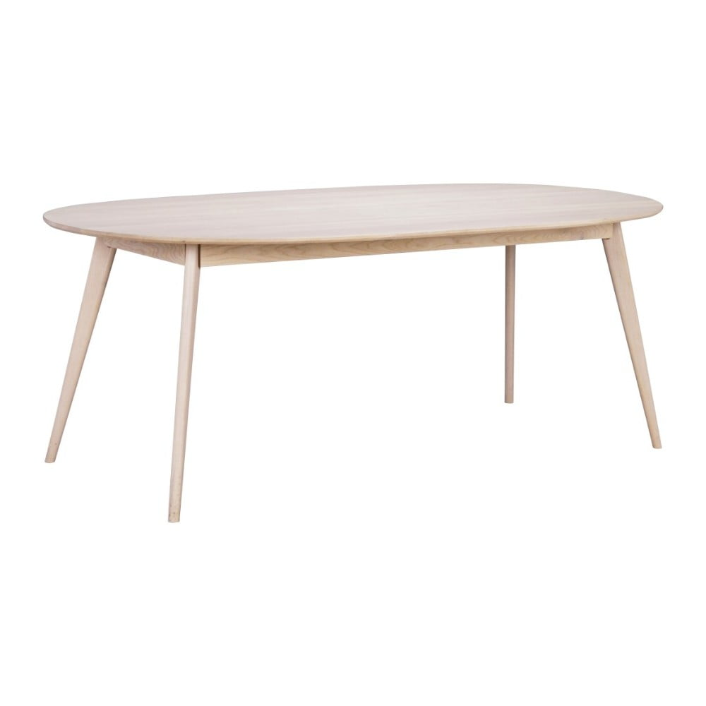Jídelní stůl z běleného dubového dřeva Folke Yumi, 102x200cm