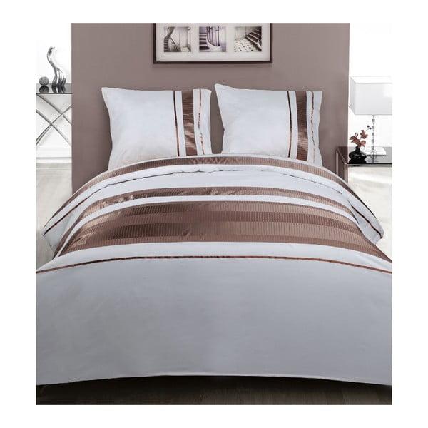 Povlečení White Brown Stripes, 240x200 cm