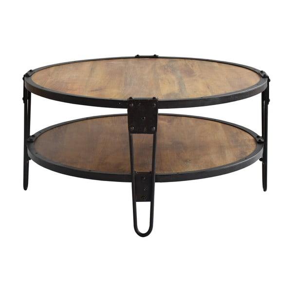 Stôl z mangového dreva a recyklovaného kovu RGE Bangalore, ⌀ 90 cm