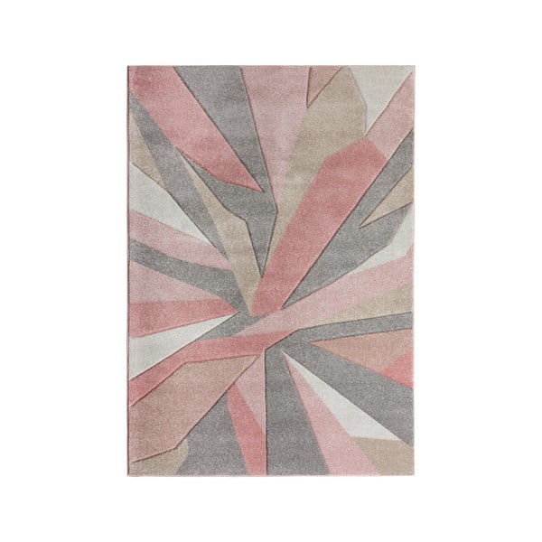 Covor Flair Rugs Shatter, 120 x 170 cm, roz