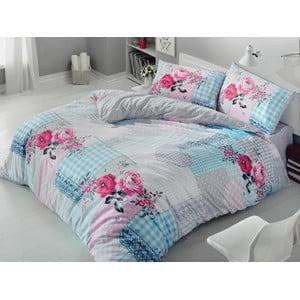 Lenjerie de pat cu cearșaf Rita Pink, 200 x 220 cm