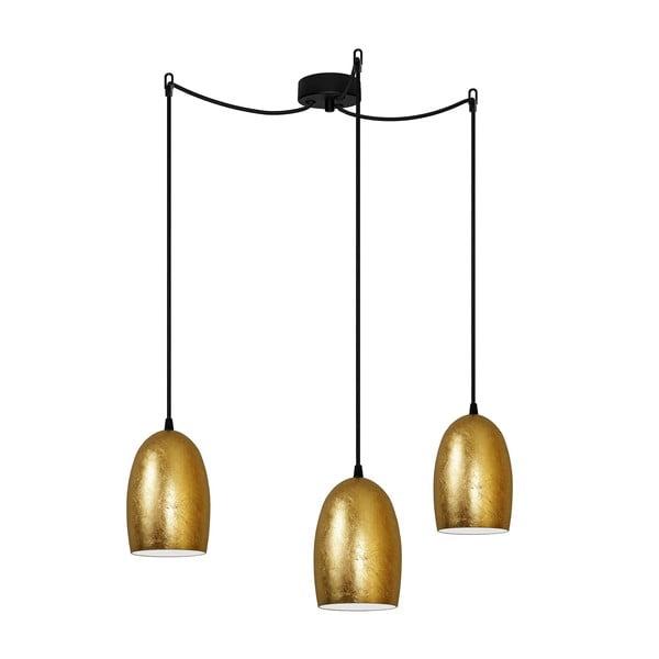 Lampa potrójna w kolorze złota Sotto Luce UME Elementary