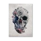 Autorský plakát Floral Skull