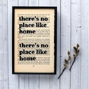 Plakát v dřevěném rámu Wizard of Oz No Place Like Home