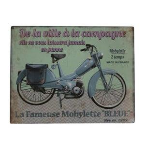 Cedule Antic Line Blue Motorcycle