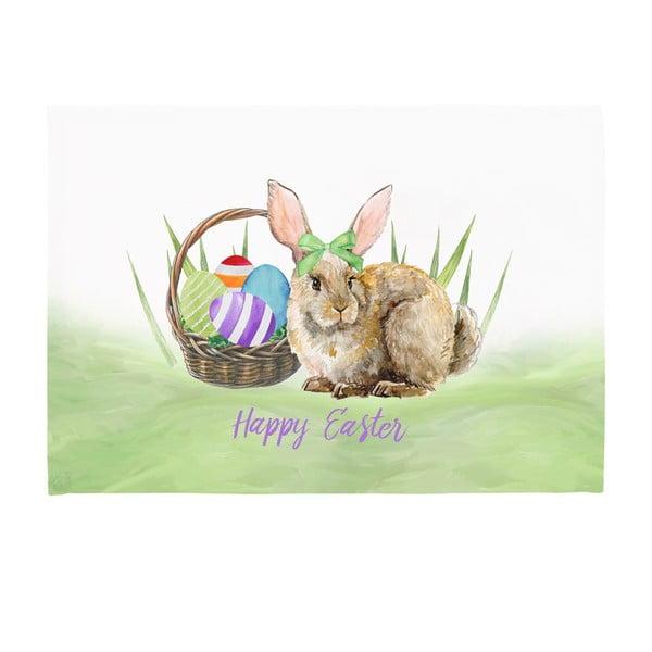 Set 2 suporturi pentru farfurie Apolena Easter Basket Rabbit, 33 x 45 cm