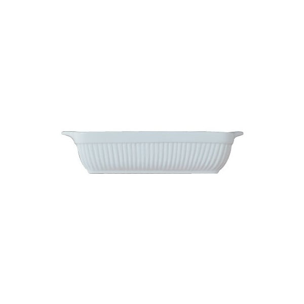 Kameninová zapékací mísa Bianco, hranatá 34x31 cm