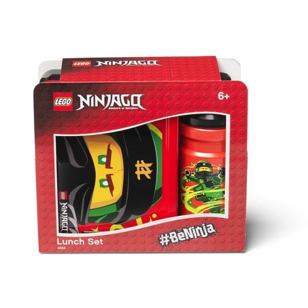 Set červeného svačinového boxu a lahve na pití LEGO® Ninjago Classic