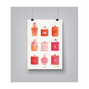 Poster Americanflat Flask Collection, 30 x 42 cm