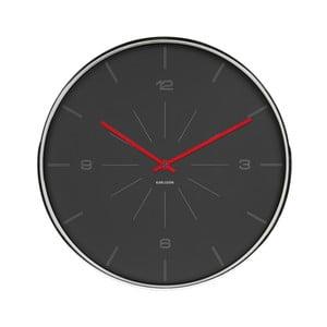 Černé hodiny Karlsson Line