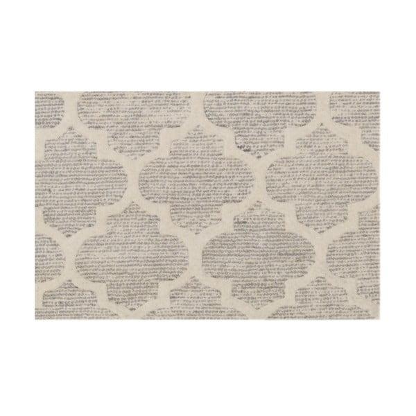 Ručně tuftovaný stříbrný koberec Bakero Diamond, 153x244cm