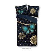 Povlečení na jednolůžko z mikroperkálu Muller Textiels Pure Lavanya, 140 x 200 cm