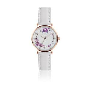 Dámské hodinky s bílým páskem z pravé kůže Emily Westwood Ramona