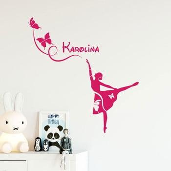 Autocolant de perete cu nume Ambiance Ballerina And Butterflies de la Ambiance
