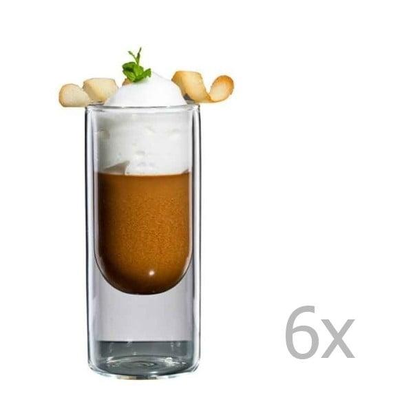 Sada 6 úzkých sklenic bloomix Half Moon