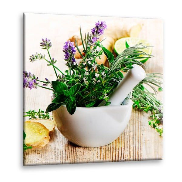 Obraz Styler Glasspik Kitchen Ginger, 30 x 30 cm