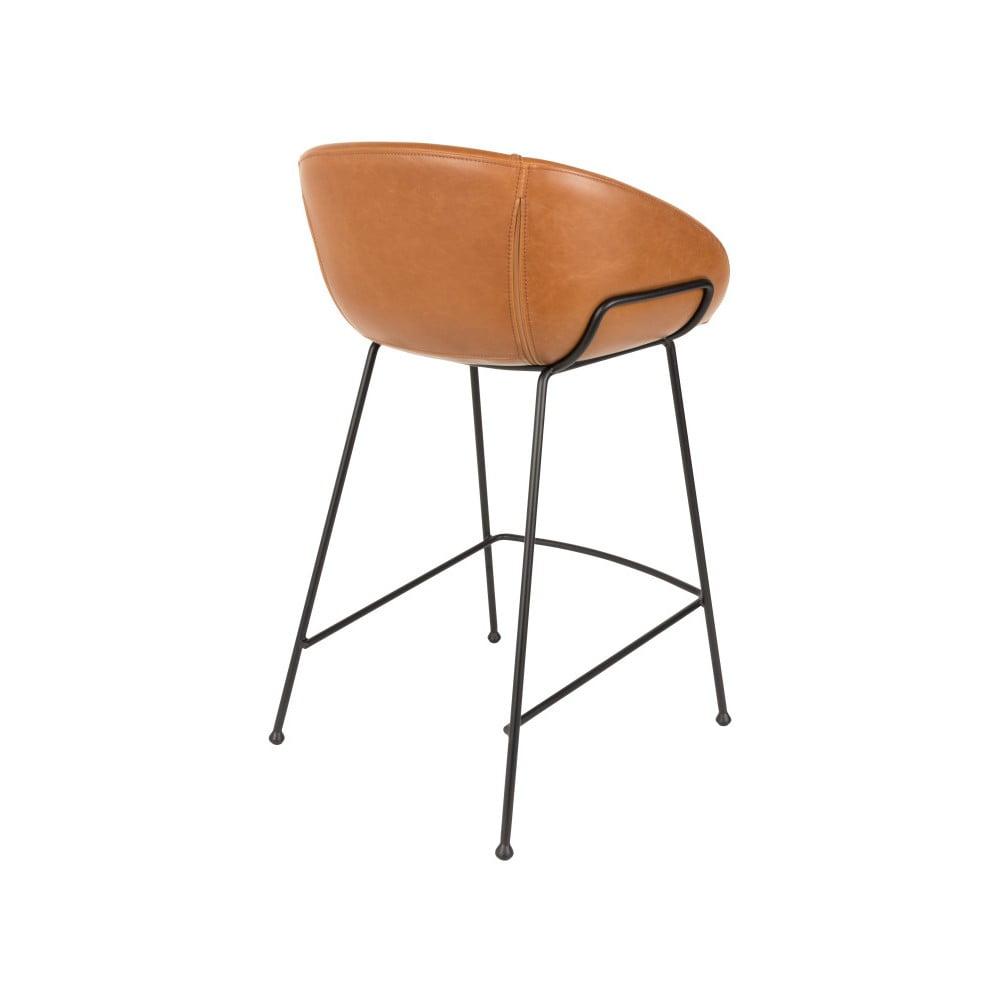 Sada 2 hnědých barových židlí Zuiver Feston, výška sedu 65cm